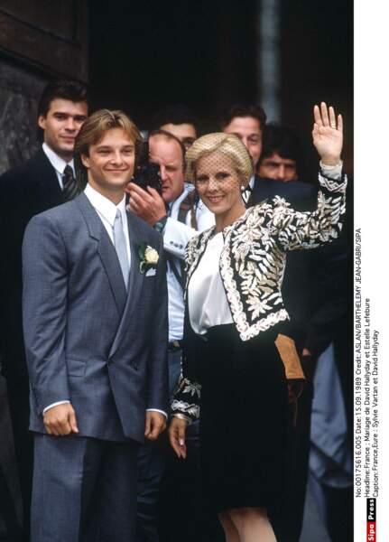 1989. Le mariage de David et Estelle Lefebure