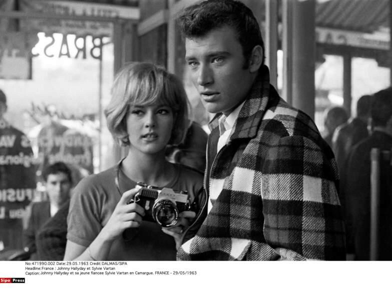 Johnny Hallyday et Sylvie Vartan, en mai 1963