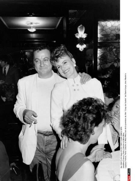 Coluche et Miou-Miou en avril 1983.