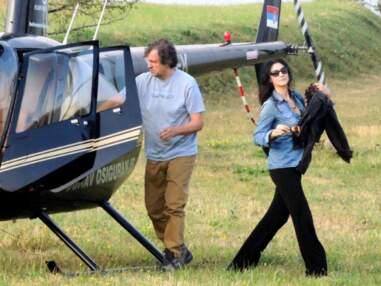 Monica Bellucci en tournage avec Emir Kusturica