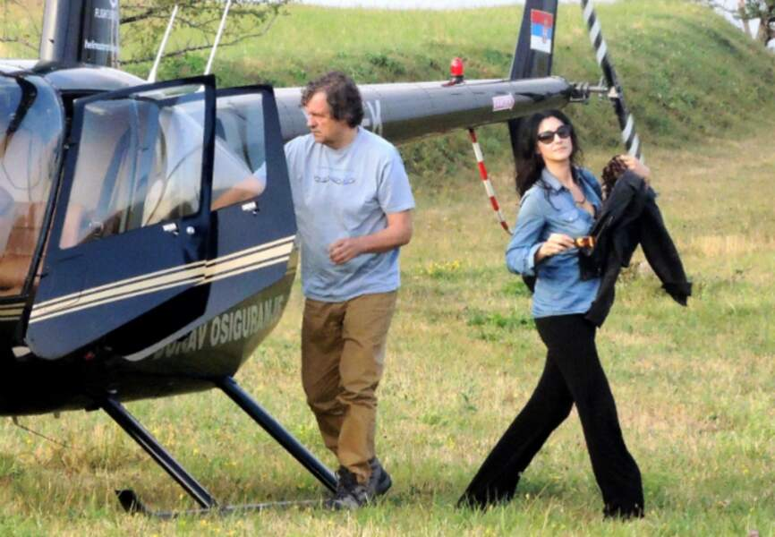 Monica Bellucci arrive sur le plateau