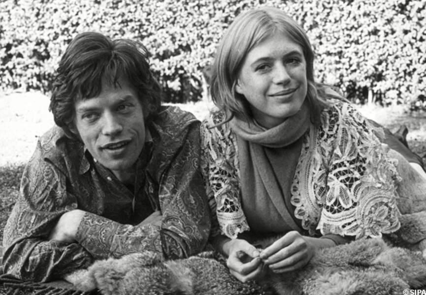 Mick Jagger et Marianne Faithfull dans les années 60