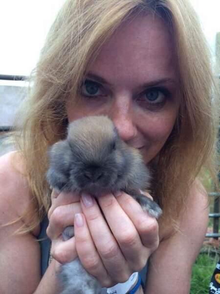 Geri Halliwell et son lapin nain