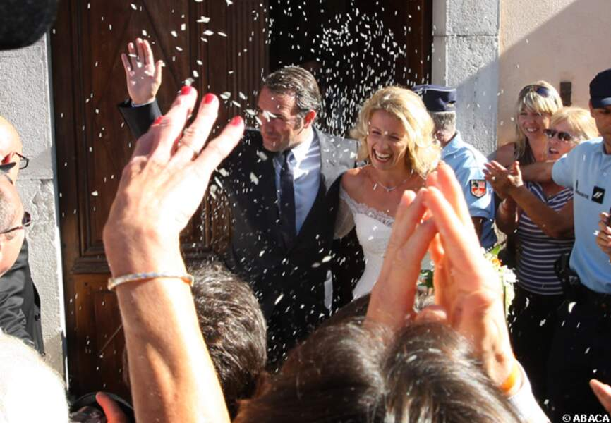 Mariage d'Alexandra Lamy et Jean Dujardin à Anduze en 2009