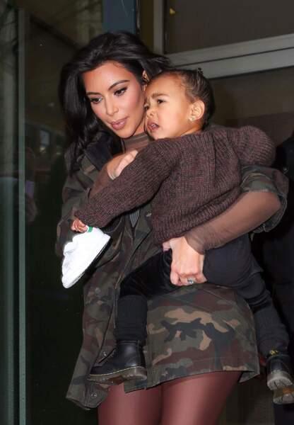 North West et sa mère Kim Kardashian