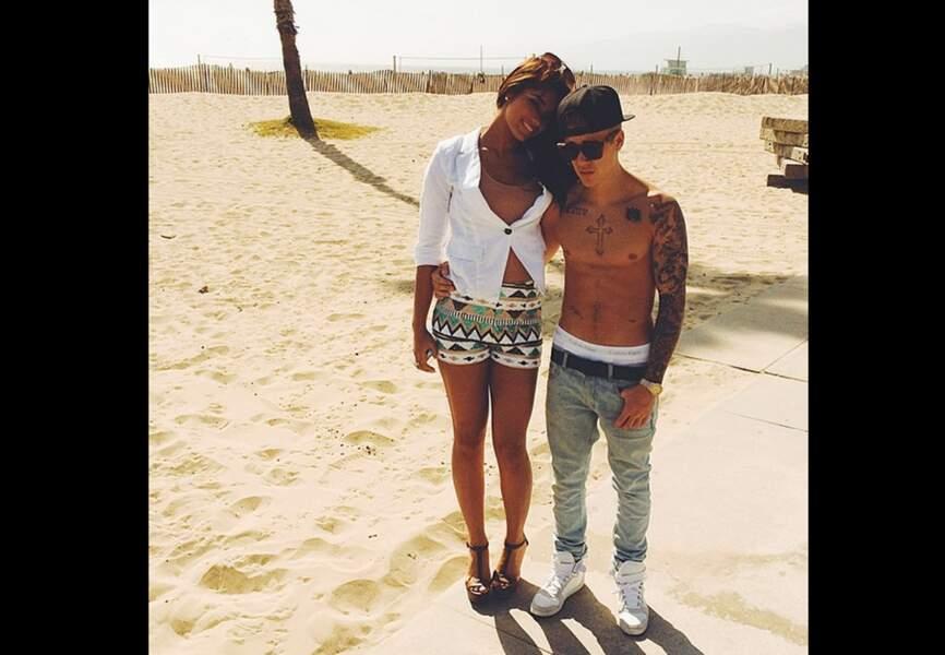 En mai 2014 avec une amie à Venice Beach