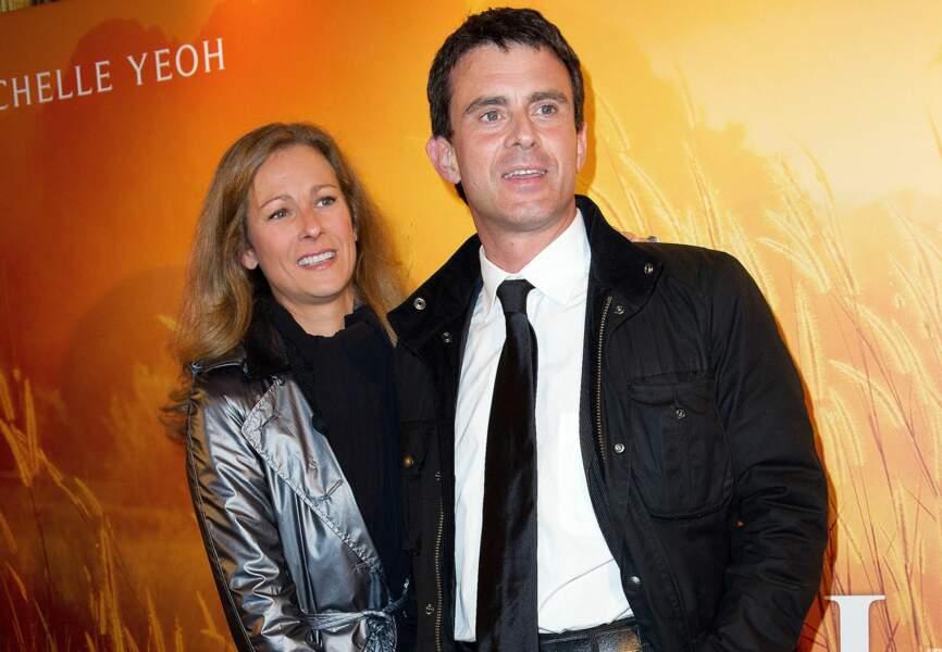 """Manuel Valls et Anne Gravoin lors de l'avt 1ère du film """"My Lady"""""""