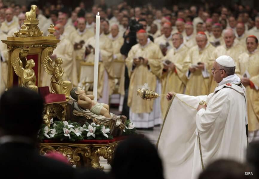François célèbre la naissance du Christ
