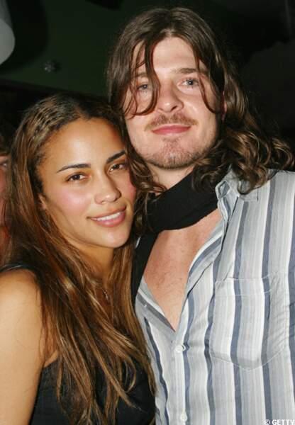 Avec Paula Patton sa future épouse 2002