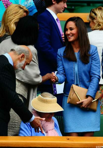 Pippa Middleton à Wimbledon, le 24 juin.