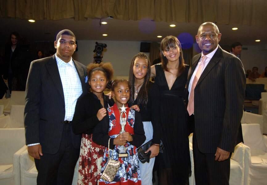 Forest Whitaker en famille. Sont présents son fils Ocean et sa fille Autumn