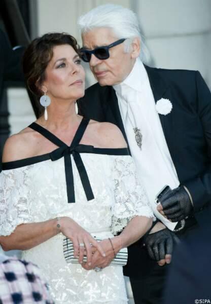 Caroline de Hanovre et Karl Lagerfeld, toujours complices