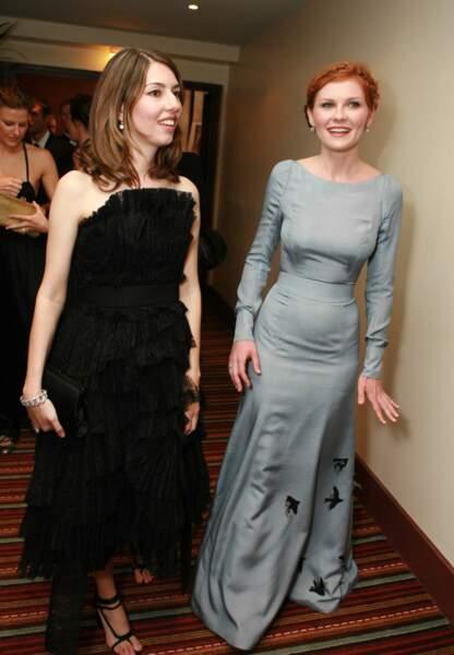 Avec Kirsten Dunst à une réception à l'hôtel le Majestic. 2006