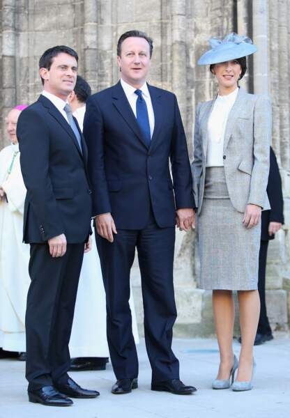 Manuel Valls, David et Samantha Cameron