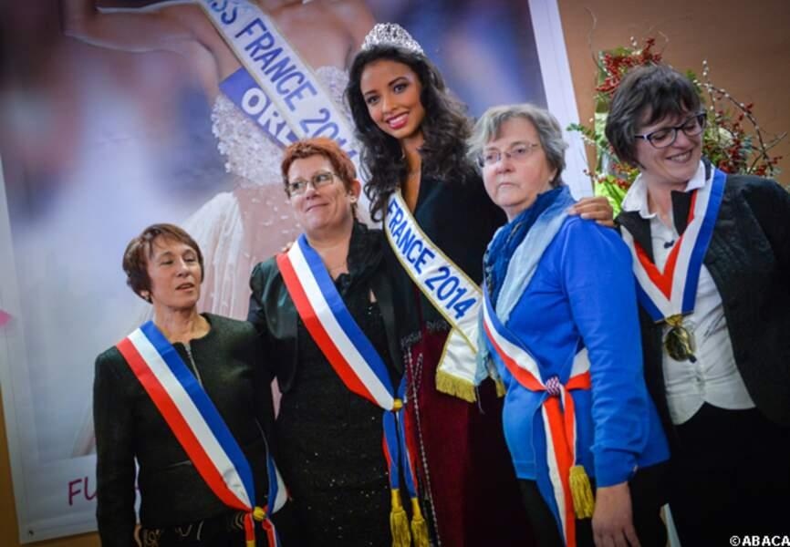 Miss France a rencontré d'autres élues, de la République cette fois