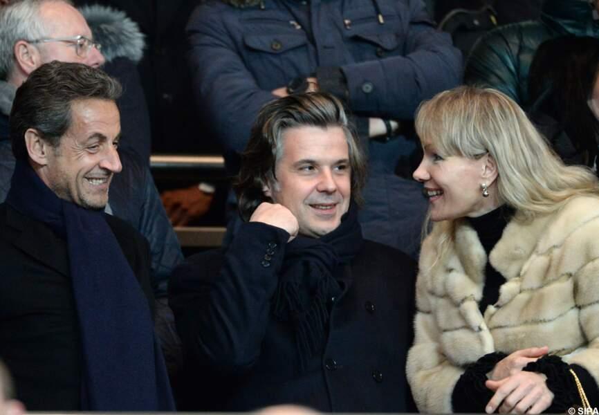 Nicolas Sarkozy avec Vincent Labrune et Margarita Louis-Dreyfus