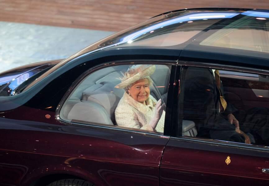 Arrivée de la Reine Elisabeth II aux Commonwealth Games 2014