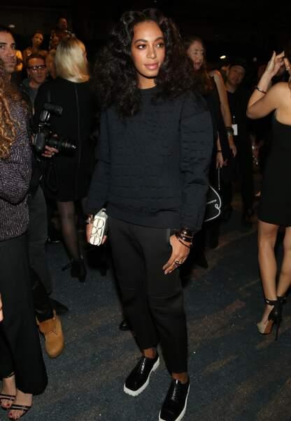 Solange Knowles dans le mood sport couture de la soirée
