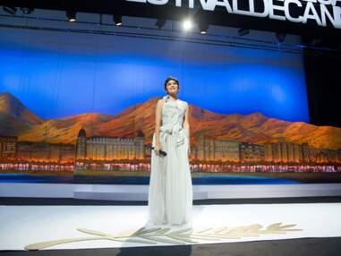 Photos – Audrey Tautou choisit une robe Yiking Yin pour Cannes