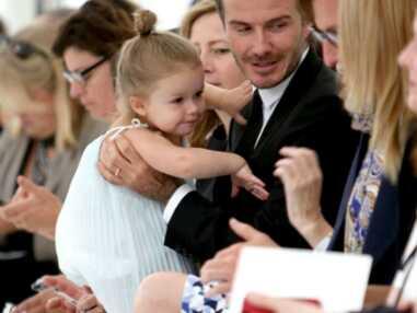 Harper Beckham passe une semaine avec son papa à New York