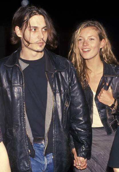 Johnny Depp et Kate Moss en 1994