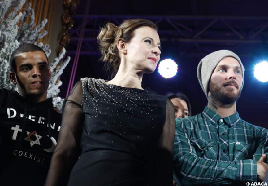 Valérie Trierweiler, plutôt bien entourée avec Brahim Zaibat et M Pokora