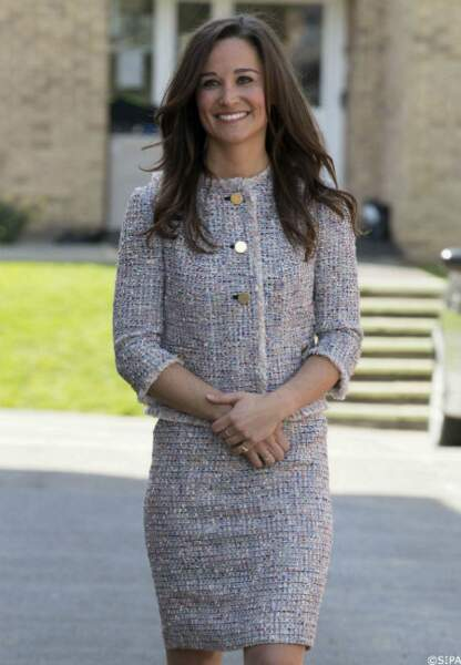 Pippa Middleton lors d'une visite officielle, le 23 avril