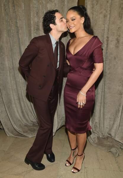 Zac Posen et Rihanna