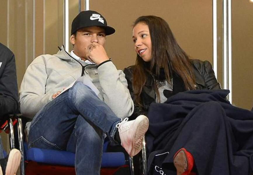 Thiago Silva et sa femme Isabele (PSG)