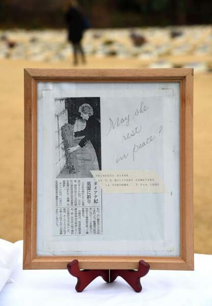 Pour l'occasion, une photo de la princesse Diana a été exposée