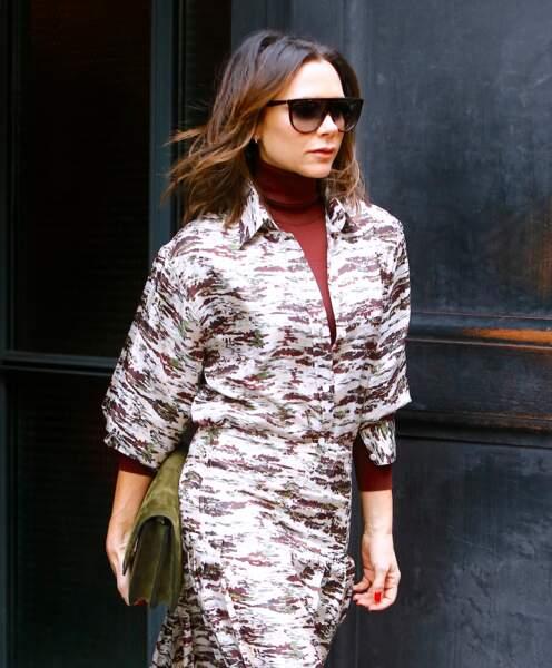 Victoria Beckham avec un carré mi-long wavy en janvier 2019