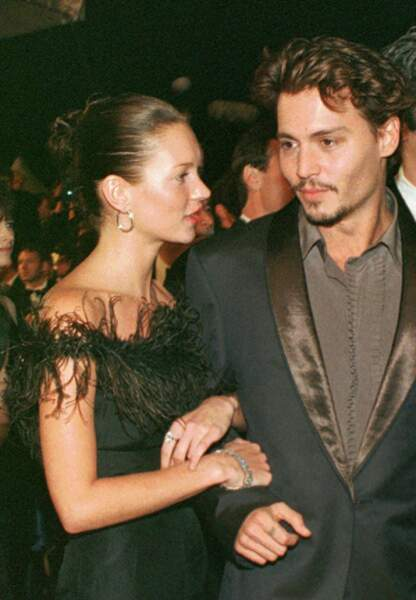 Johnny Depp et Kate Moss, mai 1998
