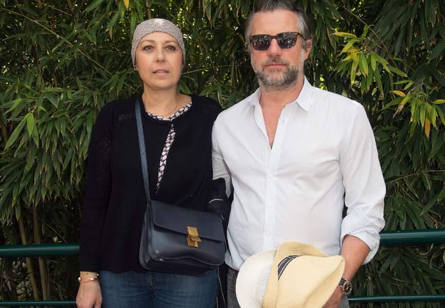 Avec son compagnon en juin 2013