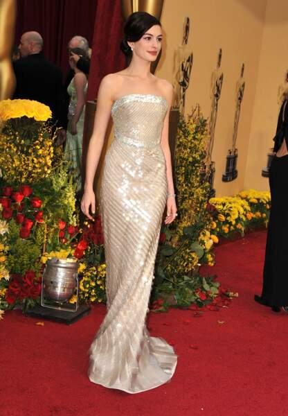 Anne Hathaway aux Oscars en 2009