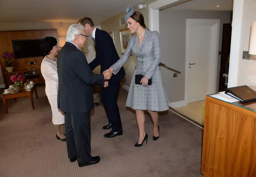 Le couple présidentiel de Singapour a reçu Kate et William en septembre 2012