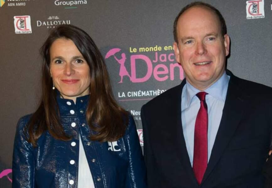 Le prince Albert de Monaco et la ministre de la Culture Aurélie Filippetti
