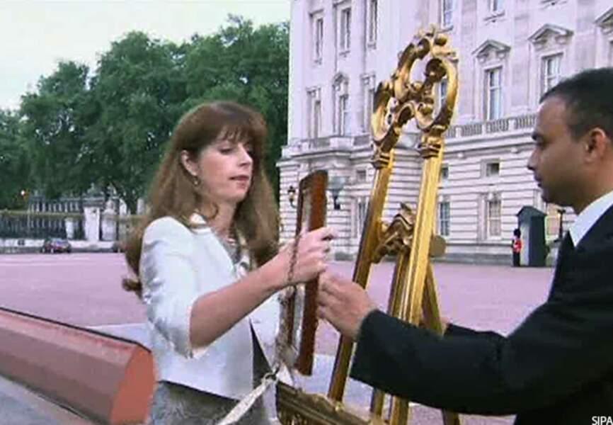 Le chevalet posé devant Buckingham