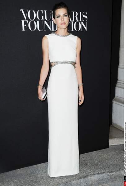 Charlotte Casiraghi au gala de la Vogue Fondation, habillée par Gucci