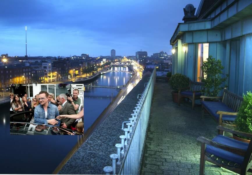 Le penthouse, où Bono aime fêter son anniversaire domine la Liffey