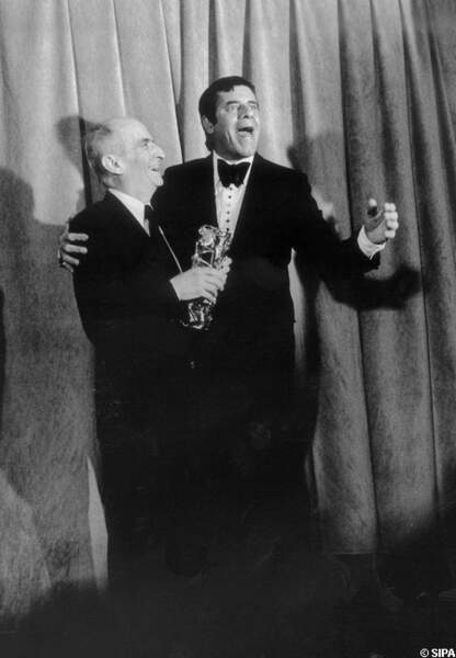 Louis de Funès et Jerry Lewis aux César en 1980