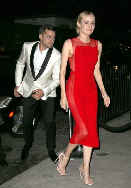 Diane Kruger, rouge fatal !