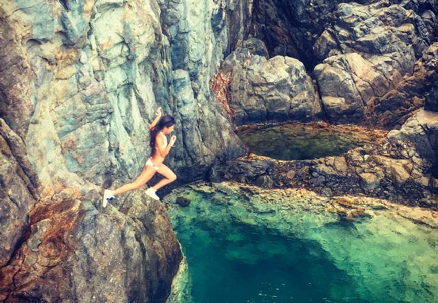 @jhallyday pas peu fier du plongeon de sa fille Jade