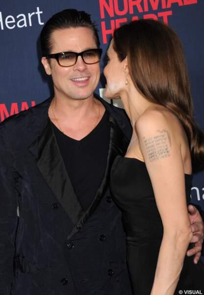 Angelina Jolie et Brad Pitt à l'avant-première de The normal heart