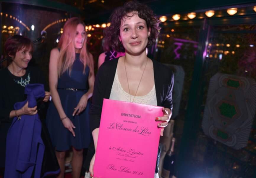 Alice Zetner, gagante du prix de la Closerie des Lilas