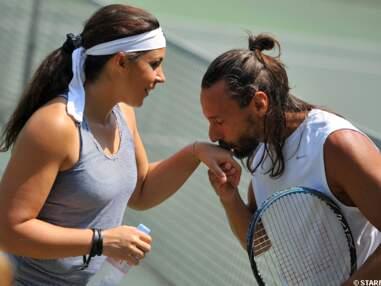 Marion Bartoli et Bob Sinclar jouent au tennis
