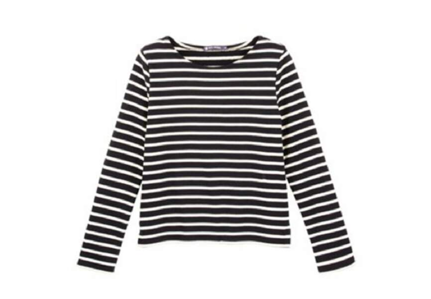 Petit Bateau – Marinière femme en jersey lourd – 60€
