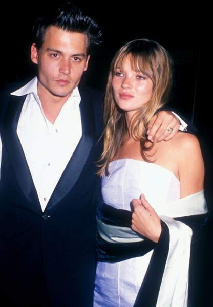 Johnny Depp et Kate Moss, avril 1995