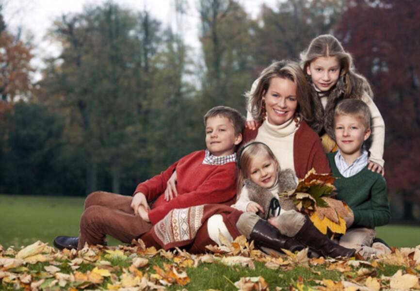 Mathilde et ses enfants: Elisabeth, Gabriel, Emmanuel et Léonore