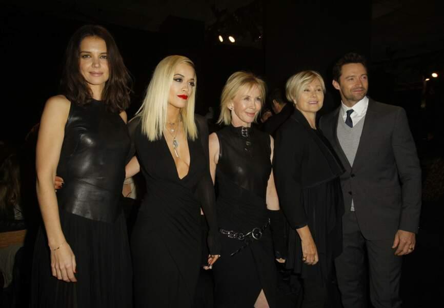 Katie Holmes, Rita Ora et Hugh Jackman au défilé Donna Karan