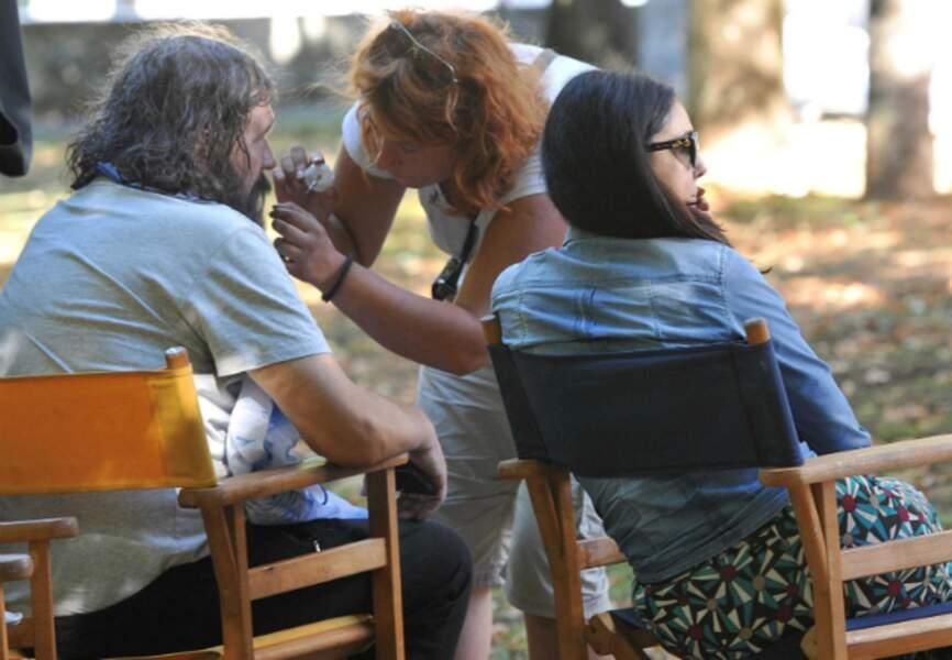 Monica Bellucci sur le plateau de tournage